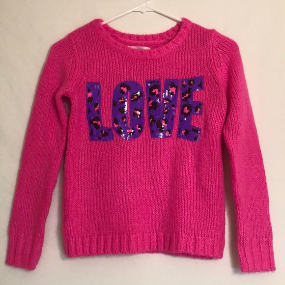 Justice Other - Justice Pink Girls Sweater Hot Pink